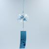 Glass Wind Chime, Blue Flower, 8cm